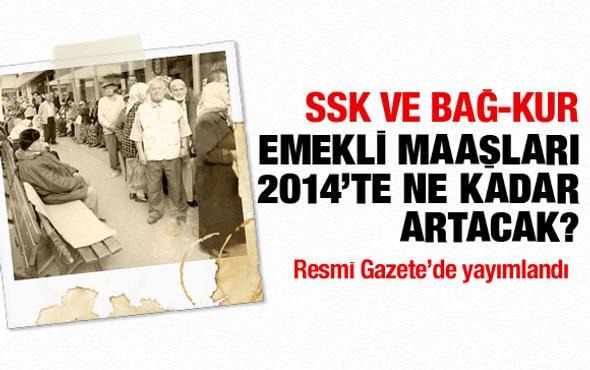 SSK ve Bağ-Kur emekli maaşları 2014'te ne olacak?