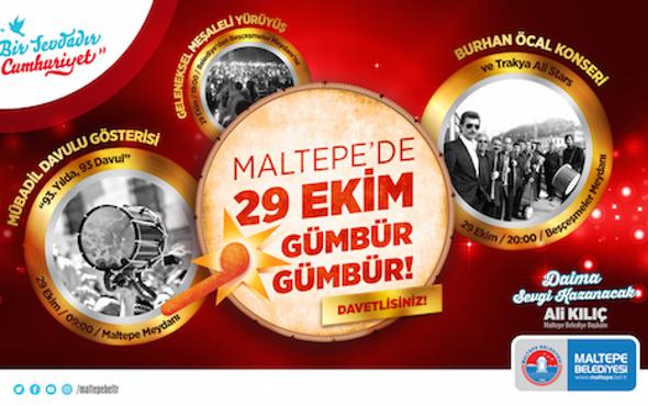 """Maltepe'de Cumhuriyet """"gümbür gümbür"""" kutlanacak"""
