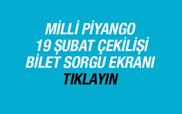 Milli Piyango 19 Şubat 2016 çekilişi bilet sorgulama ekranı