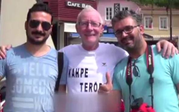 Marmaris'e gelen İngiliz turist tişortüne bakın ne yazdı!