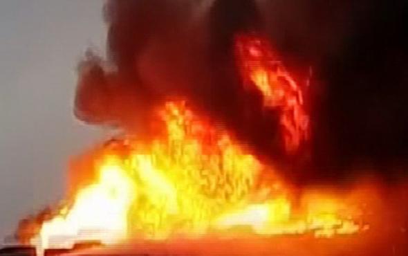 İstanbul'da büyük yangın alevler heryeri sardı