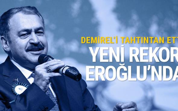"""Bakan Eroğlu """"baraj rekortmeni"""" oldu"""