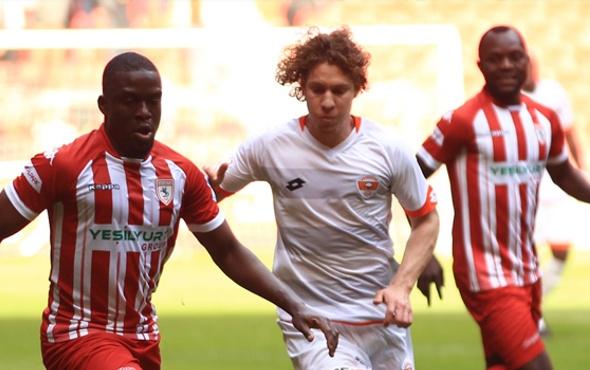 Samsunspor-Adanaspor maçında gol yok