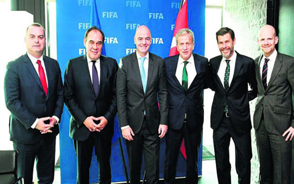 Demirören FIFA Başkanı Infantino'yu ziyaret etti