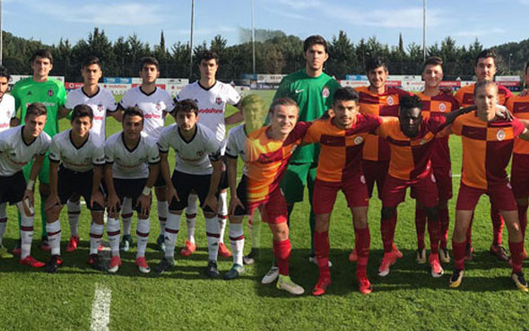 Beşiktaş Galatasaray derbisinde dostluk kazandı