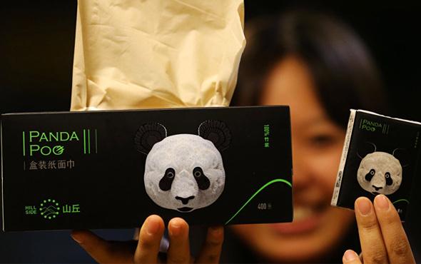 Panda dışkısından üretildi yeni peçetelere bakın