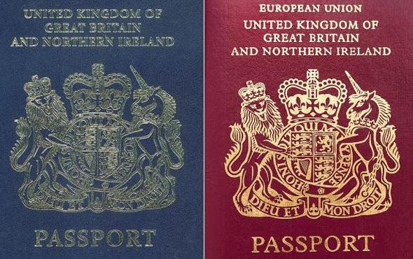 Brexit kararı sonrası pasaportaların da rengi değişti