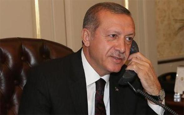Cumhurbaşkanı Erdoğan'dan sürpriz telefon!