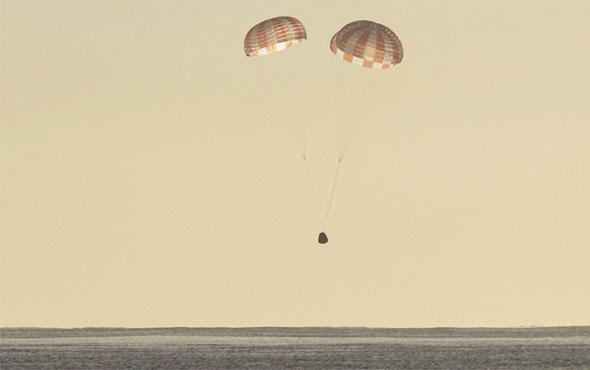 SpaceX kapsülü topladığı verilerle dünyaya döndü