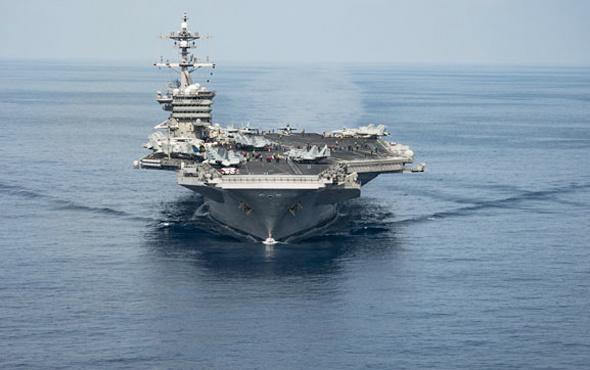Kore'ye gönderildiği söylenen ABD uçak gemisi bakın nerede!