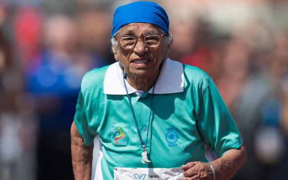 101 yaşında altın madalya kazandı