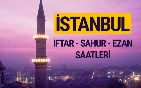 İstanbul iftar saati imsak vakti ve ezan saatleri