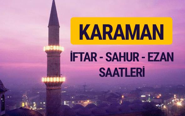 Karaman iftar saati imsak vakti ve ezan saatleri