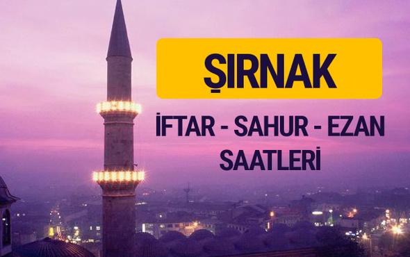Şırnak iftar saati imsak vakti ve ezan saatleri