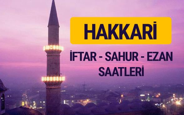 Hakkari iftar saati imsak vakti ve ezan saatleri
