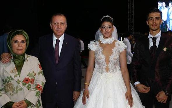 Cumhurbaşkanı Erdoğan Milli sporcunun düğününde