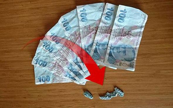 Polis paraları ağzından çıkardı
