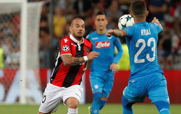 Wesley Sneijder'in takımı Nice'ye büyük şok