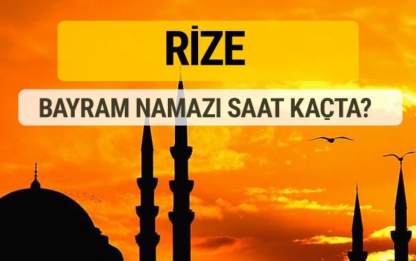 Rize Kurban bayramı namazı saati - 2017