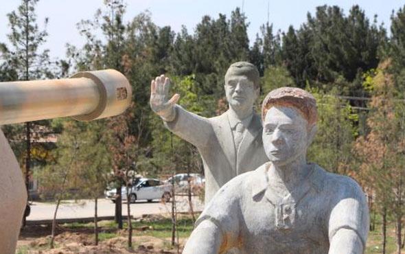 Harran'da yapılan Erdoğan heykeli kaldırıldı