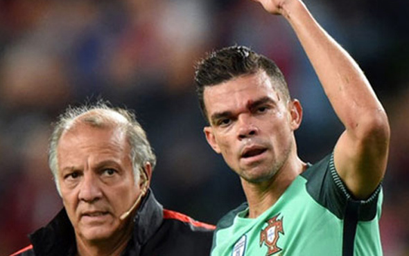 Portekiz'de Pepe şoku! Kanlar içinde kaldı...