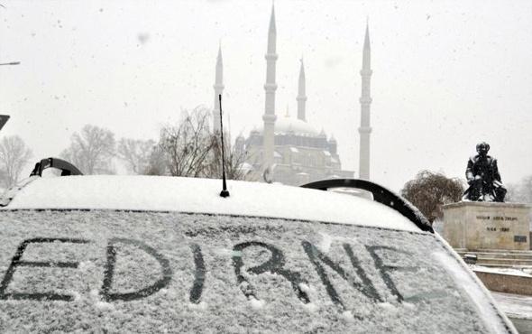 Edirne hava durumu meteoroloji kar alarmı verdi
