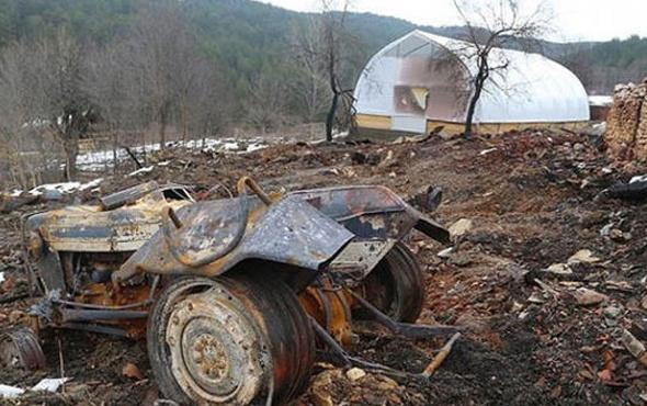 Çataloğlu ailesini bir traktör odunla yakmışlar