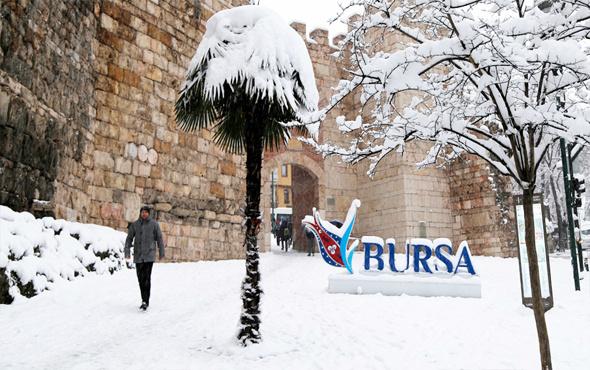 Bursa hava durumu meteoroloji kar alarmı verdi