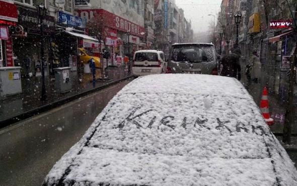 Kırıkkale hava durumu meteoroloji kar alarmı verdi