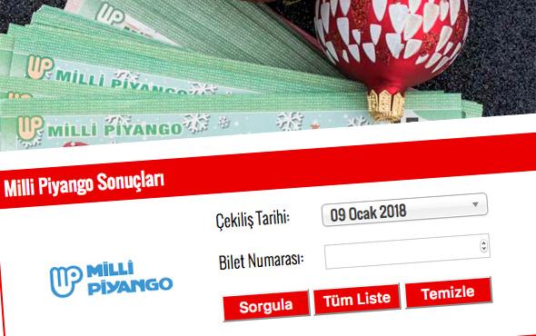 19 Ocak 2018 Milli Piyango tam listesi MPİ sorgu ekranı
