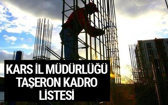 Kadroya geçen taşeron işçilerin isim listesi - Kars İl Müdürlüğü