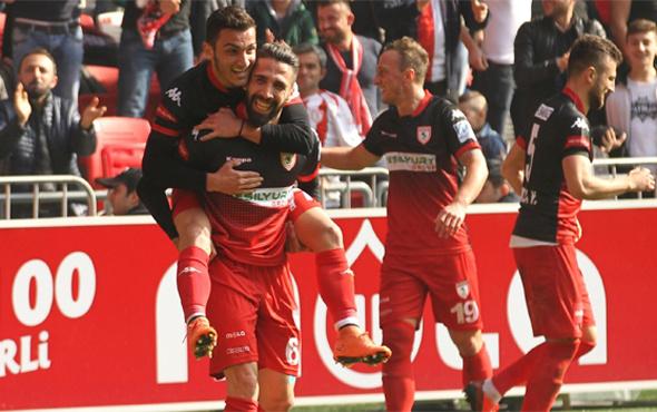 Samsunspor 3 puanı tek golle aldı