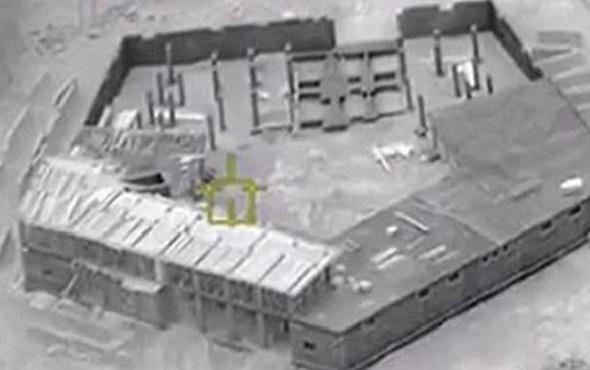 Afrin'de görüntülendi teröristlerin 'Pentagonu'