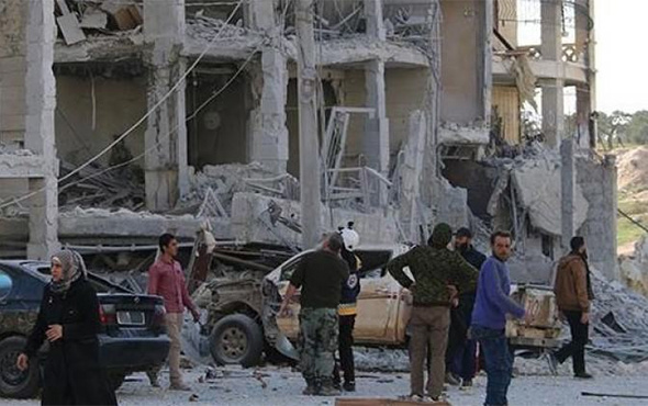 İdlib'e hava saldırısı: Ölü ve yaralılar var!