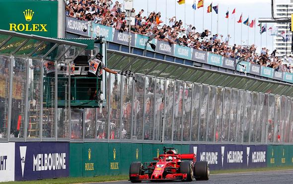 Avustralya'da kazanan Vettel oldu