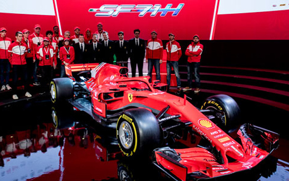 İşte Scuderia Ferrari F1'in yeni aracı!