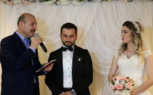 İçişleri Bakanı Soylu nikah şahidi oldu
