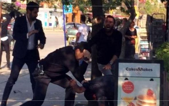 Sokak ortasında polisle tekme tokat kavga ettiler