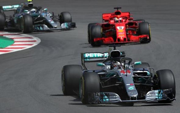 İspanya'da zafer Hamilton'ın oldu!