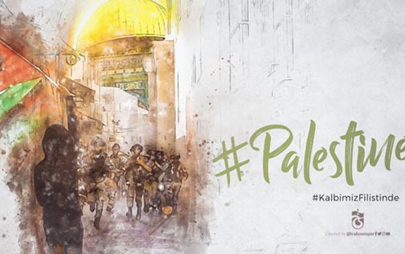 Trabzonspor'dan Filistin'e destek mesajı