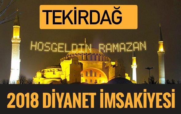 2018 İmsakiye Tekirdağ- Sahur imsak vakti iftar ezan saatleri