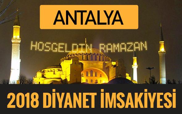 2018 İmsakiye Antalya- Sahur imsak vakti iftar ezan saatleri