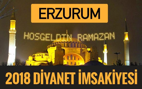 2018 İmsakiye Erzurum- Sahur imsak vakti iftar ezan saatleri