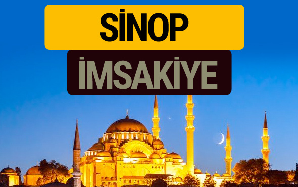 Sinop İmsakiye 2018 iftar sahur imsak vakti ezan saati