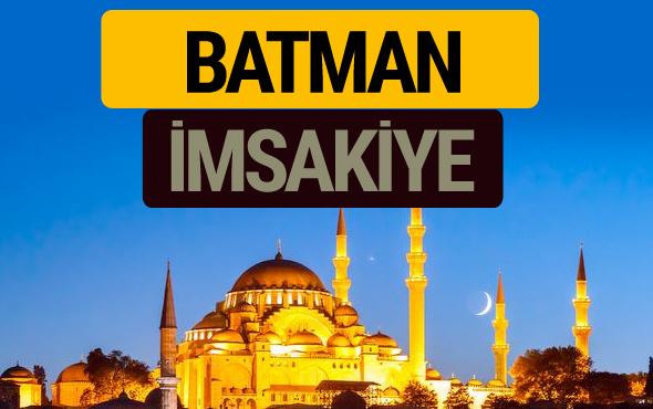 Batman İmsakiye 2018 iftar sahur imsak vakti ezan saati