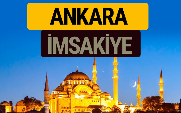Ankara İmsakiye 2018 iftar sahur imsak vakti ezan saati