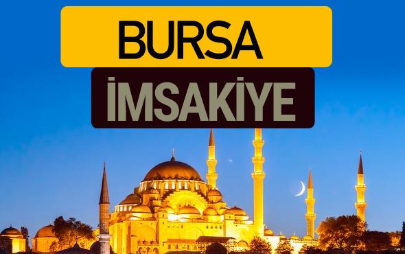 Bursa İmsakiye 2018 iftar sahur imsak vakti ezan saati