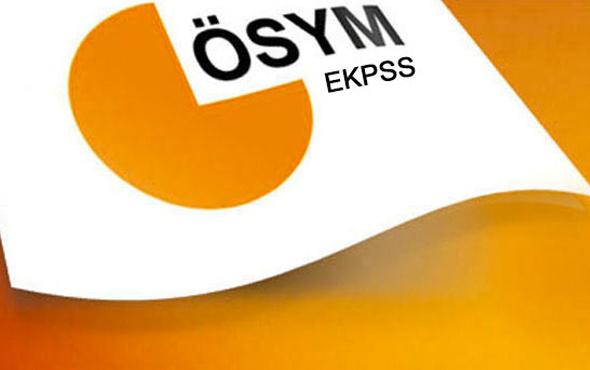 EKPSS sonuçları kura çekimine göre yerleştirme ÖSYM tablosu