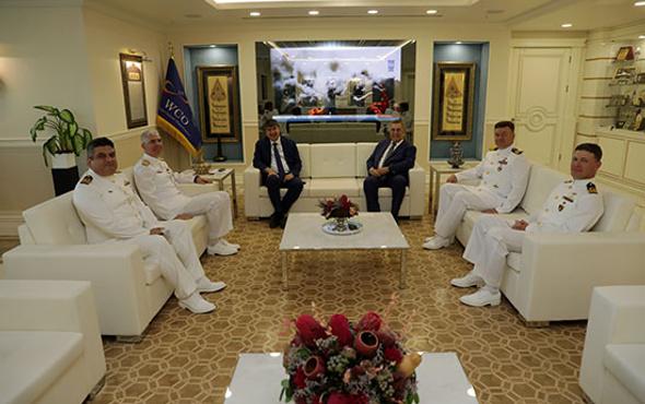 Komutanlar Başkan Türel'i ziyaret etti