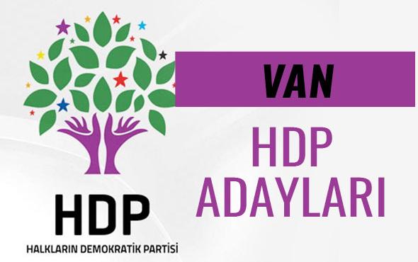 HDP Van milletvekili adayları 27. dönem listesi